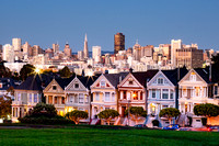 Painted Ladies at Dusk